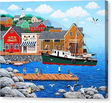 Fish And More Fish Canvas Print by Wilfrido Limvalencia
