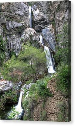 Fish Canyon Falls Canvas Print by Eddie Yerkish