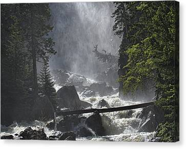 Canvas Print featuring the photograph Fish Creek Mist by Don Schwartz