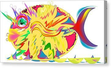 Fish Fanatic Canvas Print by Andy Cordan