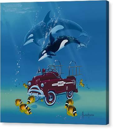 Fish Hook  Ladder Canvas Print by Kenneth F Aunchman