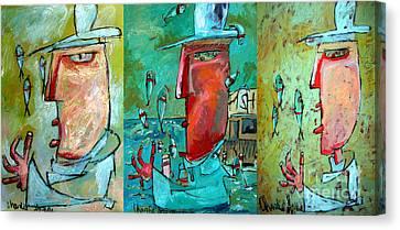 Fish Juggler Series Composite Canvas Print