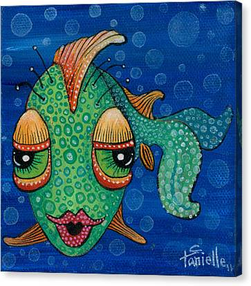 Fish Lips Canvas Print by Tanielle Childers