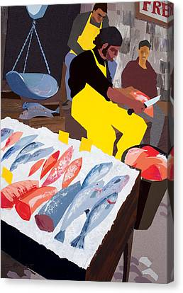 Fish Market Canvas Print by Clifford Faust