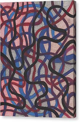 Fish Net Design Canvas Print by Barbara St Jean