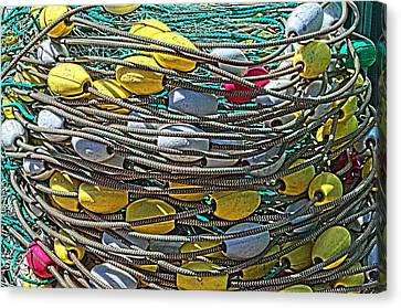 Fish Net Hdr Canvas Print by Cathy Mahnke