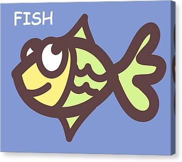 Fish Canvas Print by Nursery Art