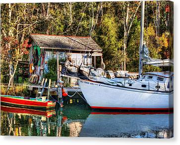Fish Shack And Invictus Original Canvas Print by Michael Thomas