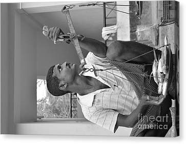 Fish Stall Neil Island  Canvas Print by Bobby Mandal