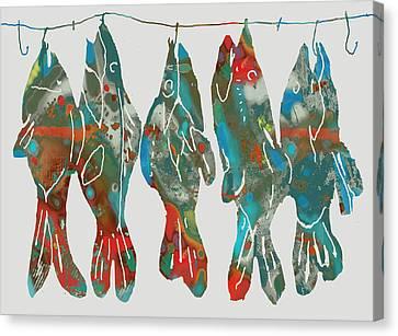 Fish Stylised Drawing Art Poster Canvas Print by Kim Wang