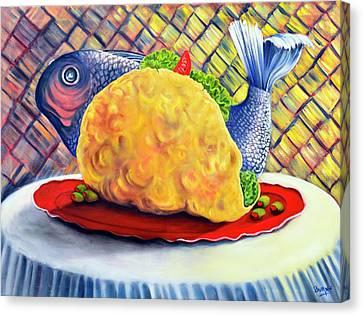 Fish Taco Canvas Print