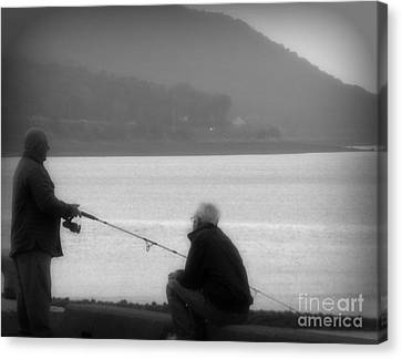 Fish Tales Canvas Print by Lorraine Heath