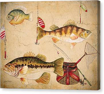 Fish Trio-a Canvas Print by Jean Plout