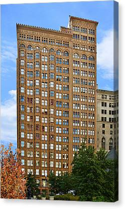 Fisher Building - A Neo-gothic Chicago Landmark Canvas Print by Christine Till