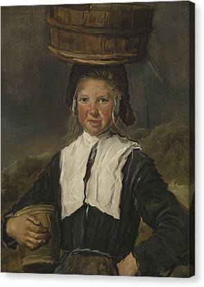 Fisher Girl Oil On Canvas Canvas Print by Frans Hals