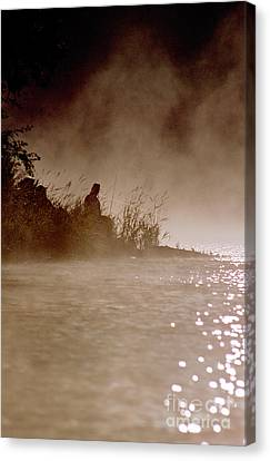 Fisher In The Mist Canvas Print