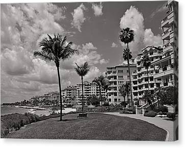 Canvas Print featuring the photograph Fisher Island by Lorenzo Cassina