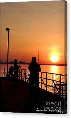 Fisher Sun Canvas Print by Laurence Oliver