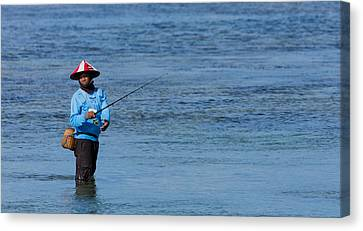 Fisherman - Bali Canvas Print by Matthew Onheiber