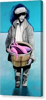 Fisherman Canvas Print by Michael Pittman