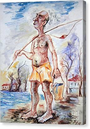 Fisherman Canvas Print by Milen Litchkov