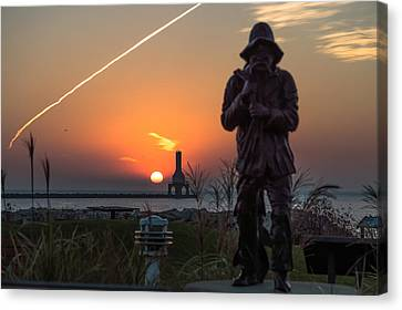 Fisherman Sunrise Canvas Print