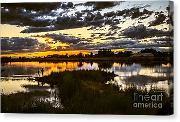 Fisherman Sunset Canvas Print by Robert Bales