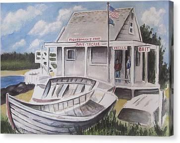Fishermans Cove  Canvas Print by Melinda Saminski