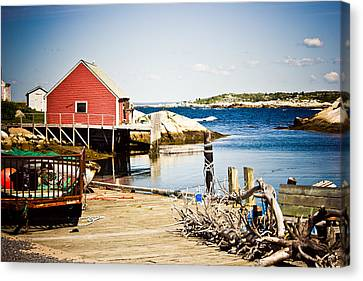 Fisherman's Cove Canvas Print by Sara Frank