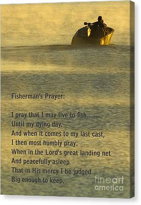 Salmon Canvas Print - Fisherman's Prayer by Robert Frederick