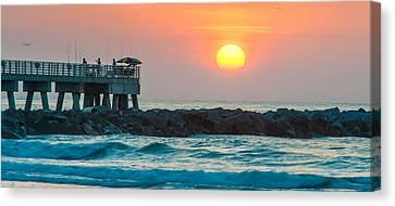 Fisherman's Sunrise Canvas Print by Cliff C Morris Jr