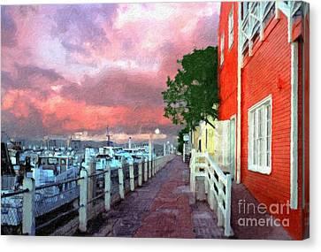 Canvas Print featuring the photograph Fisherman's Village Marina Del Mar Ca by David Zanzinger