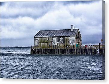 Canvas Print featuring the photograph Fishermans Wharf Provincetown Harbor by Constantine Gregory