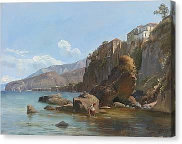Fearnley Canvas Print - Fishermen At Sorrento by Celestial Images
