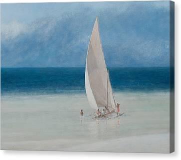 Fishermen Kilifi Canvas Print by Lincoln Seligman