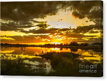 Fishermen Sunset II Canvas Print by Robert Bales