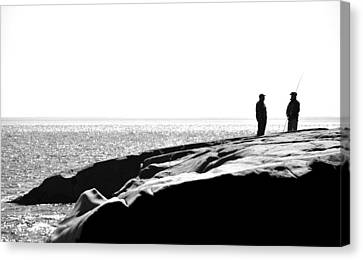Fishers By The Sea Canvas Print by Matthew Blum