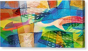 Fishes Panorama Canvas Print by Lutz Baar
