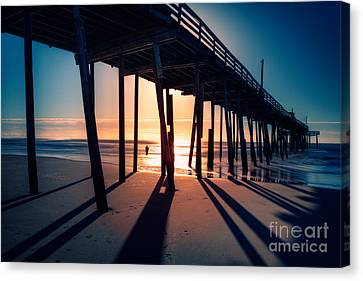 Fishing At Frisco Outer Banks Canvas Print by Dan Carmichael