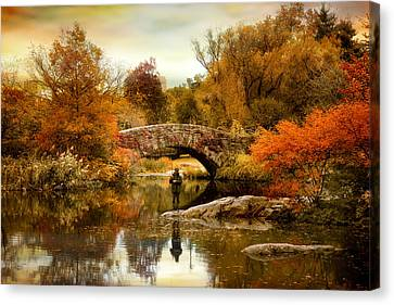 Canvas Print featuring the photograph Fishing At Gapstow by Jessica Jenney