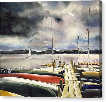 Fishing Before It Rains Canvas Print by  Alfred Ng