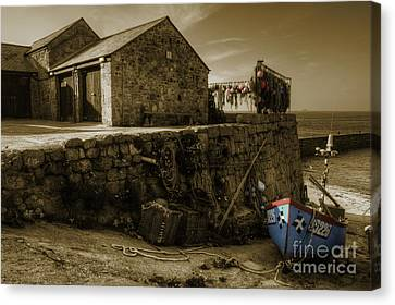 Sennen Cove Canvas Print - Fishing Boat At Sennen Cove  by Rob Hawkins