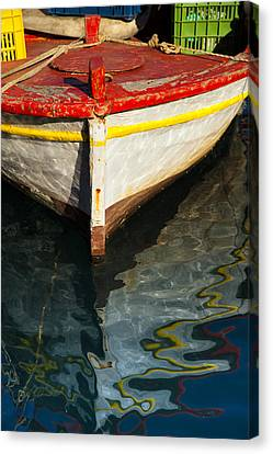 Fishing Boat In Greece Canvas Print