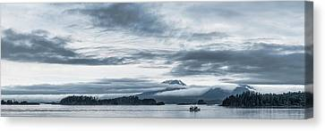 Fishing Boat In Ocean With Reddit Canvas Print by Panoramic Images