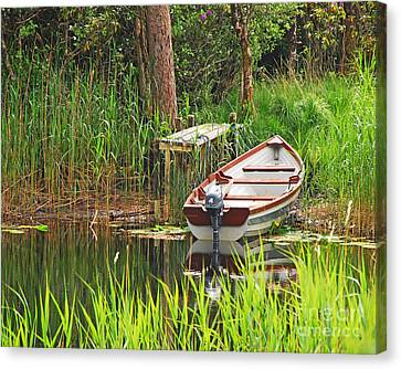 Fishing Boat Canvas Print by Mary Carol Story