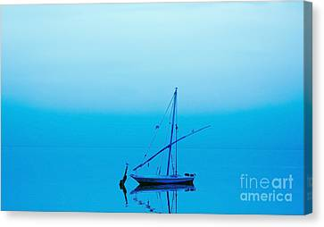 Canvas Print featuring the photograph Fishing Boat  by Mohamed Elkhamisy