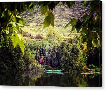 Fishing Boat On The River Douro Canvas Print by Lynn Bolt