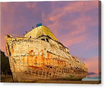 Kathleen Canvas Print - Fishing Boat Point Reyes by Kathleen Bishop