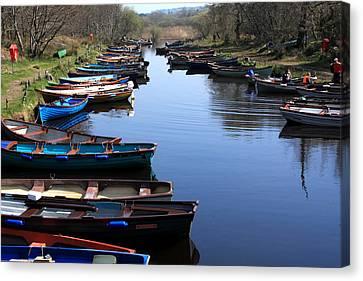 Fishing Boat Row Canvas Print by Aidan Moran