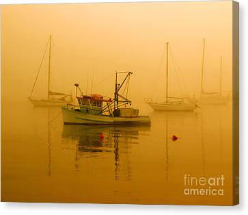 Canvas Print featuring the photograph Fishing Boat by Trena Mara